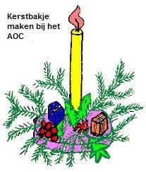 Kerststukjes maken AOC, groep 8