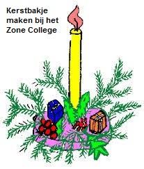 Kerststukjes maken Zone College groepen 8