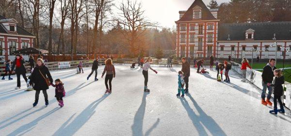 Winterpaleis het Loo en schaatsen