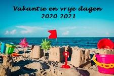Vakanties schooljaar 2020-2021